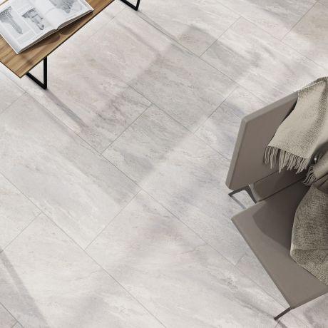 Pavestone Dolomite Porcelain Paving in White | Paving Direct